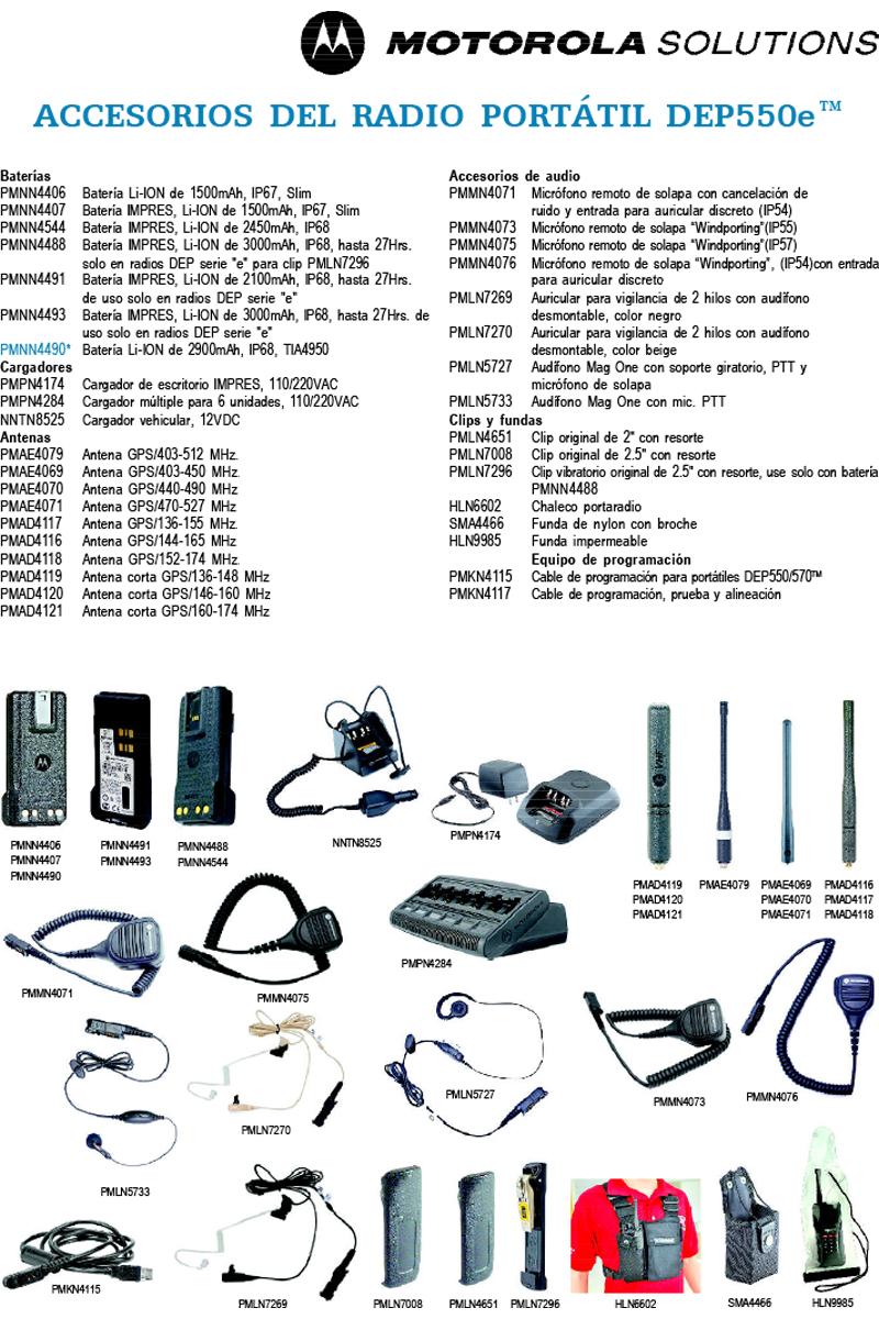 Accesorios DEP570e