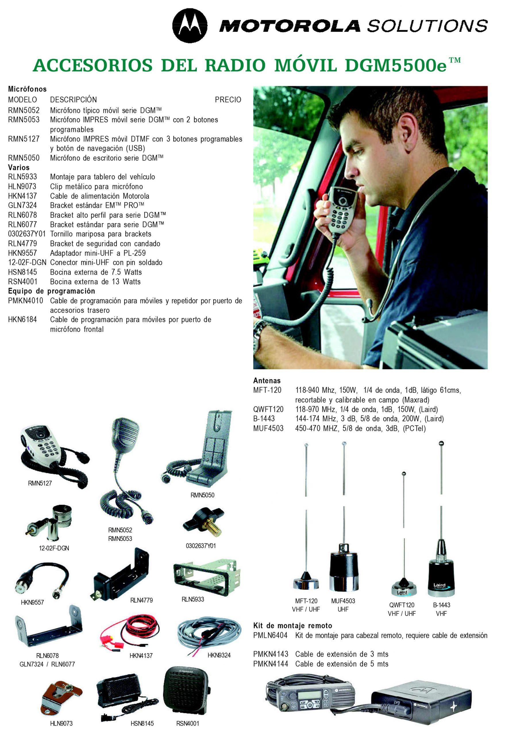 accesorios dgm5500e