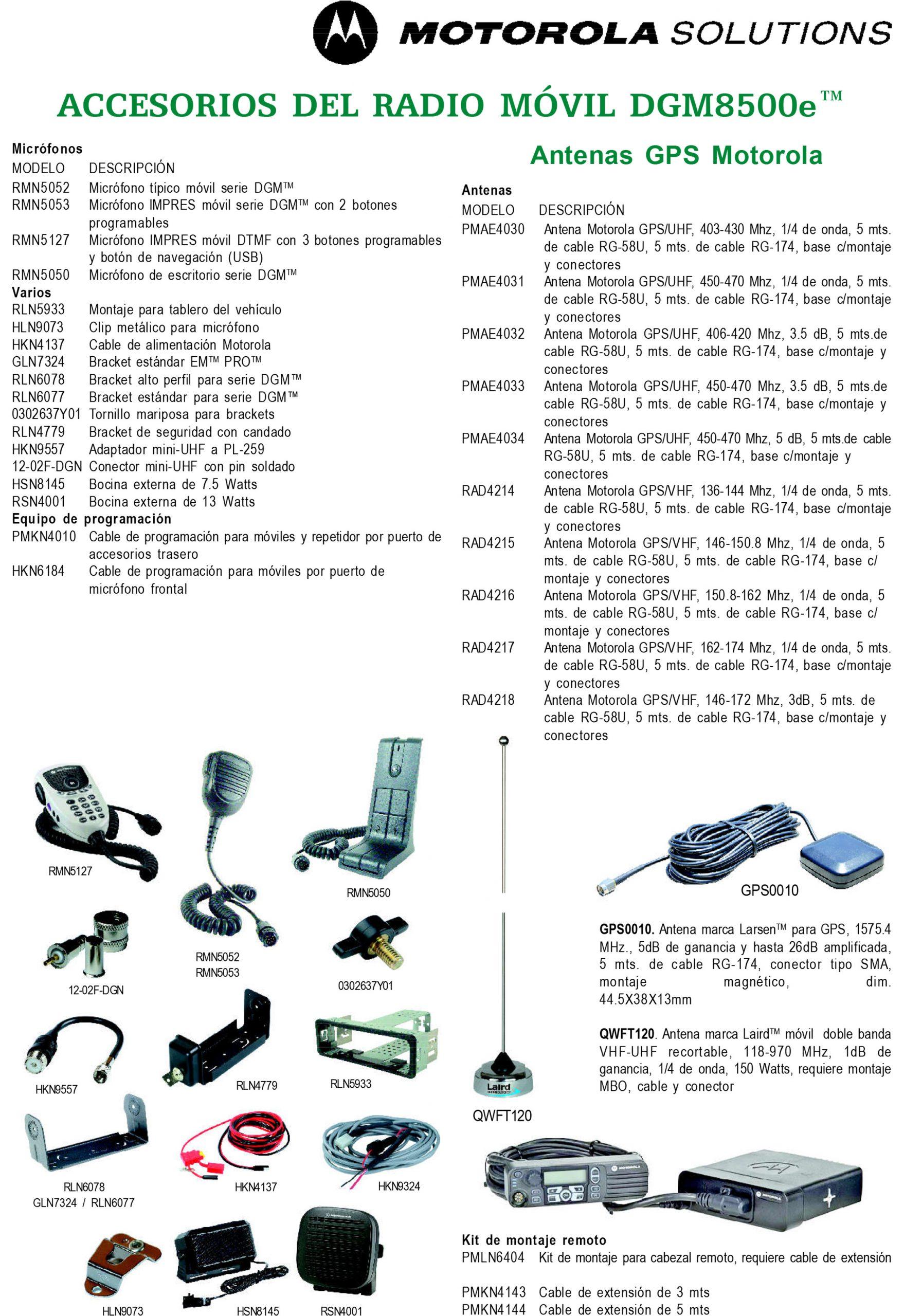 accesorios dgm8500e