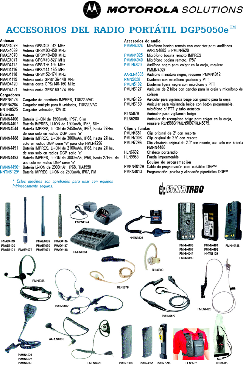 Accesorios dgp5550e